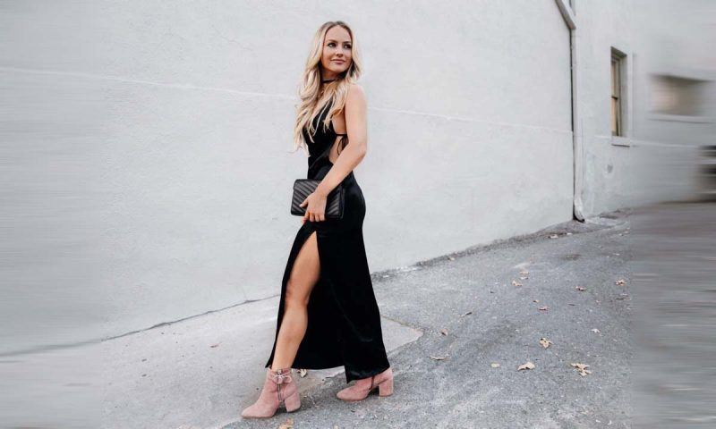 Lauren Nicolle, fashion blogger black dress, casual is the new dressy