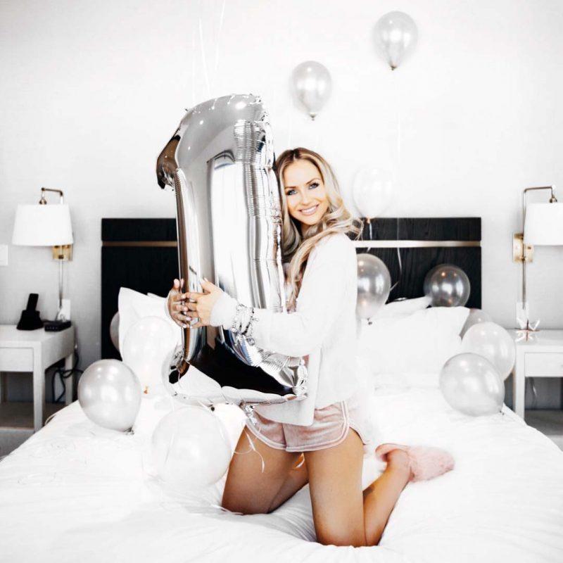 Lauren Nicolle, fashion blogger celebrating her anniversary