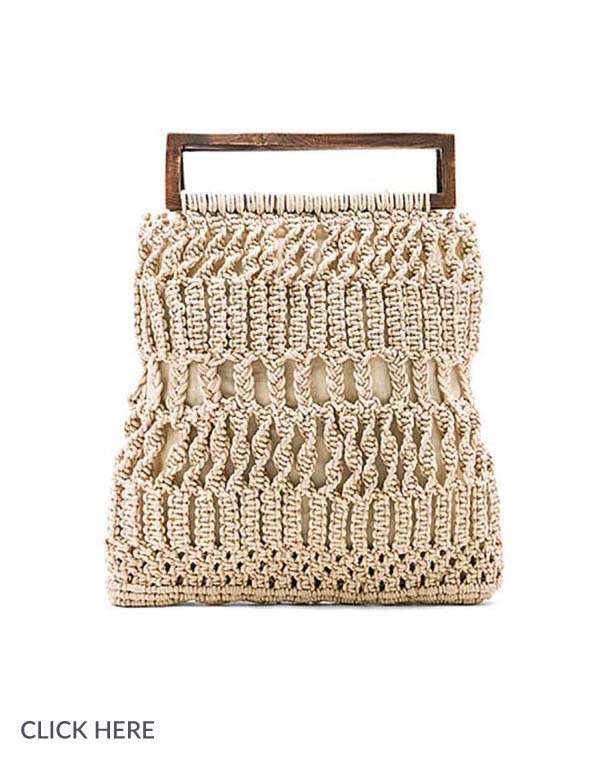 Lauren Nicolle square crochet bag