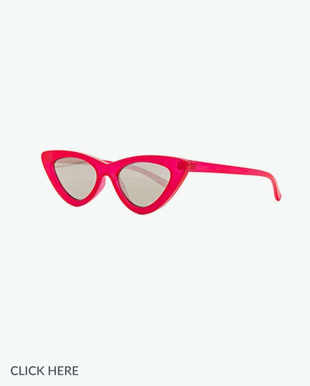 Lauren Nicolle red sunglasses