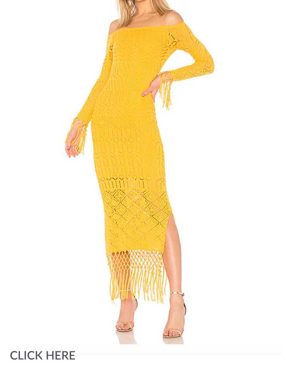 Lauren Nicolle Yellow Dress Evening Out