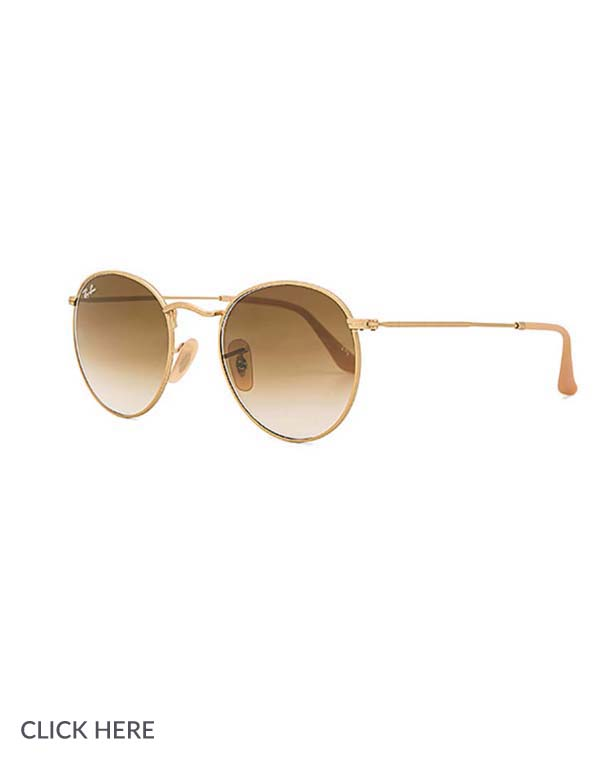 Lauren Nicolle gold sunglasses