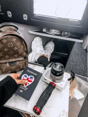 Lauren Nicolle, London Fashion Week 2019 - flight to London