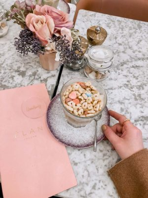 Lauren Nicolle, London Fashion Week 2019, Elan Cafe Lucky Charms Latte
